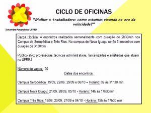 Setembro Amarelo - ciclo de oficinas
